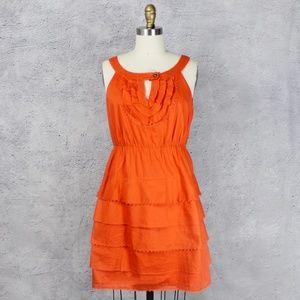 Anthropologie Maeve Ruffle Sleeveless Dress - 6